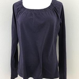2/$15 ANA Scoop Neck Long Sleeve Top